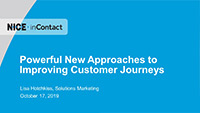 Lisa Hodgkiss webinar slides on powerful new approaches to improving customer journeys