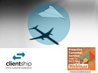 Christopher Brookes webinar slides on proactive customer service