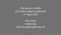 John Casey slides on the secret of WFM