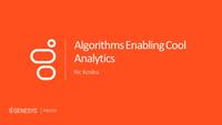 Ric Kosiba slides on the algorithms enabling analytics