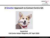 Daniel Ord slides from QA webinar